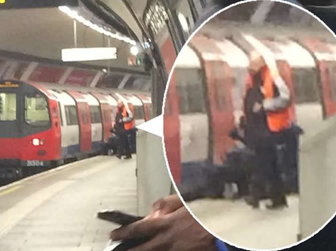 Woman dragged under train in terrifying accident