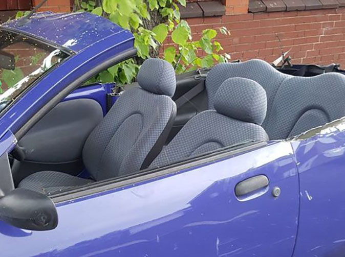 Man cuts car to make DIY convertible in heatwave