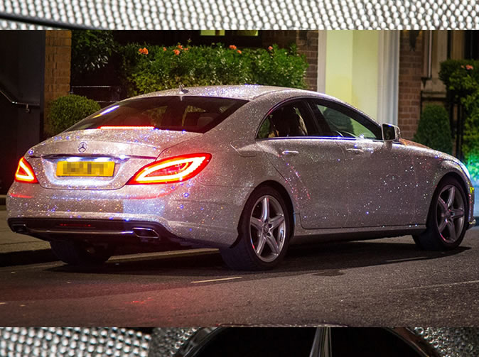 Woman covers Mercedes Benz in one million Swarovski crystals