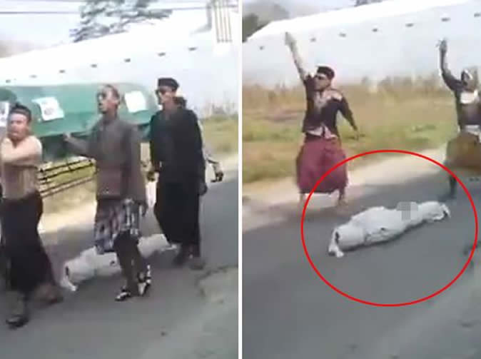 Corpse falls out of coffin during funeral