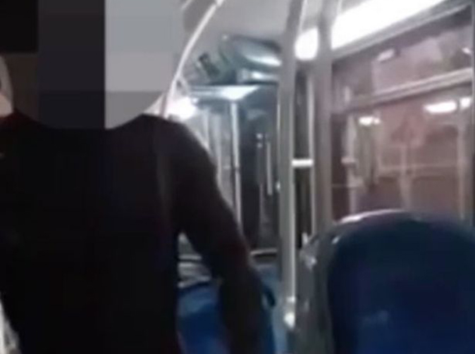 Man with no clothes on wanders onto London bus