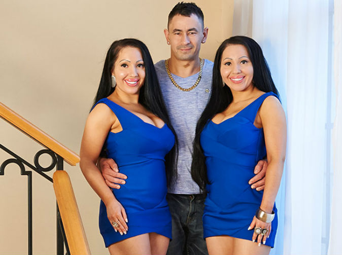 Identical twins plan identical pregnancies with boyfriend they share