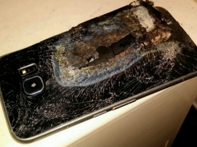 Smartphone explodes next to mother and sleeping toddler