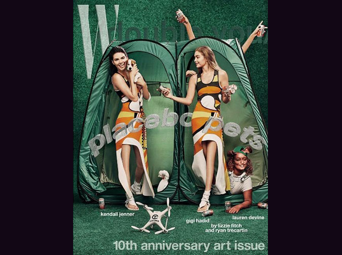 Kendall Jenner, Gigi Hadid pictured with no knees on magazine cover in 'Photoshop fail'