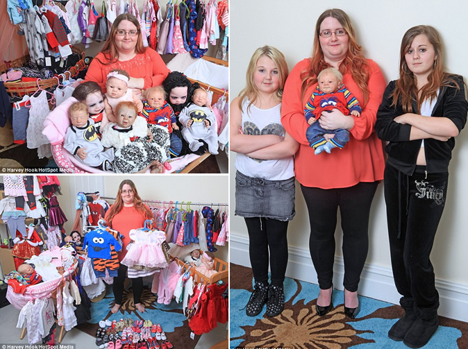 Mum spends £20,000 on lifelike dolls but refuses to treat her real children
