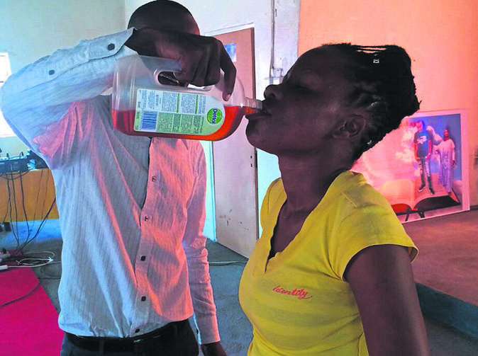 Pastor makes congregants drink Dettol