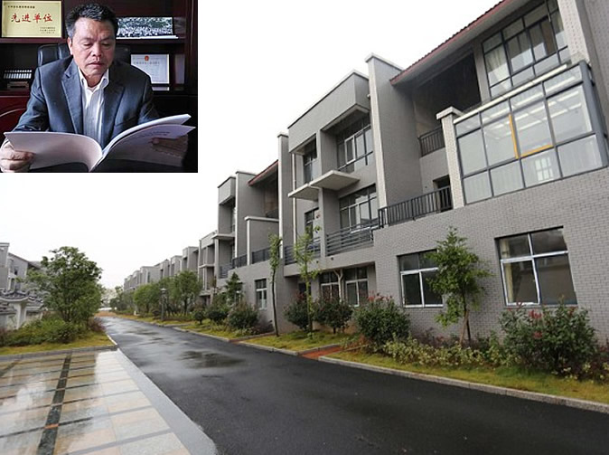 Businessman bulldozes huts and builds luxury homes for villagers in his hometown for free