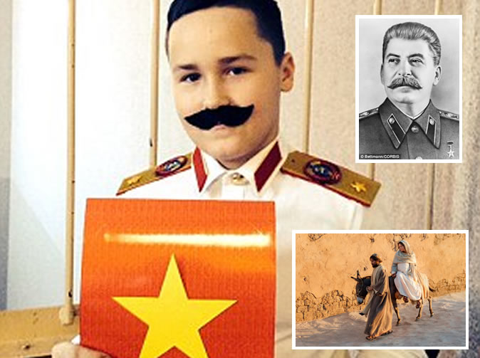 Boy turns up as Joseph Stalin instead of Joseph of Nazareth for Christmas school play