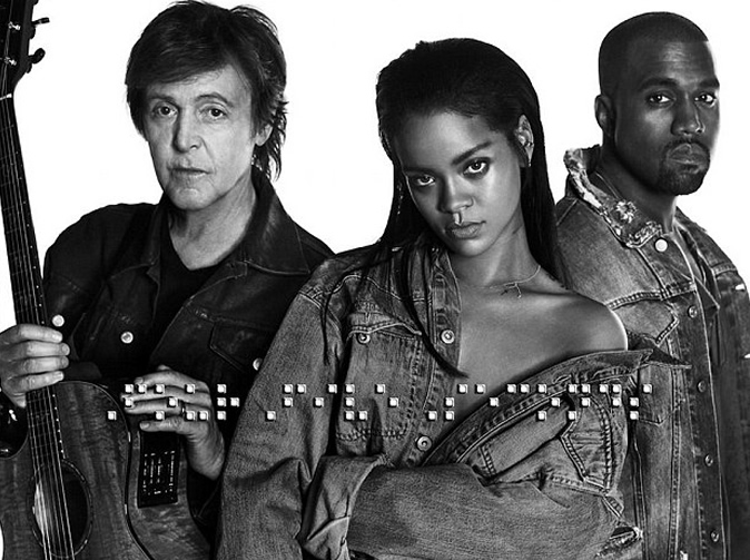 Rihanna announces collaborations with Paul McCartney and Kanye West