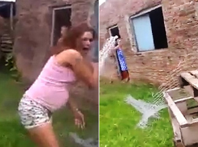 Pregnant teenager has boiling water thrown over her