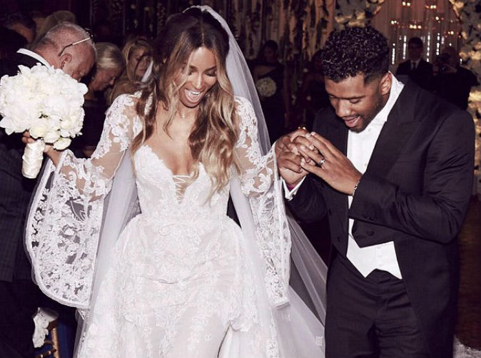 Ciara and Russell Wilson have fairy tale wedding in British castle