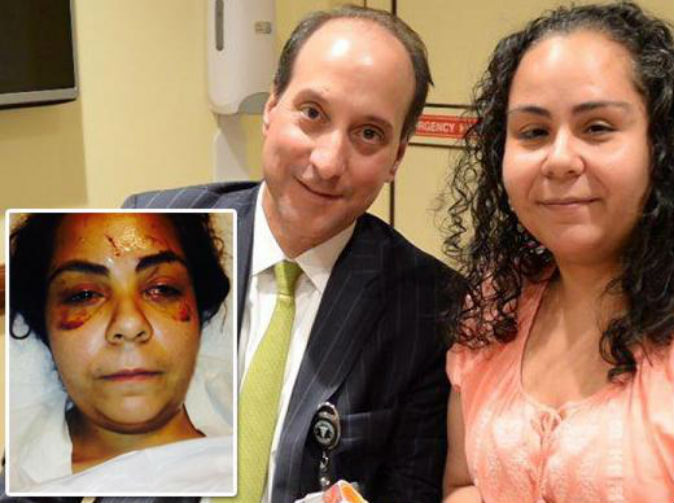 Woman regains sight after being stabbed in both eyes