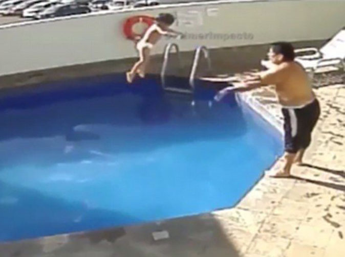 Man filmed drowning stepdaughter jailed for 100 years