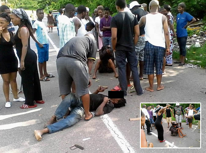 Young thieves beaten up
