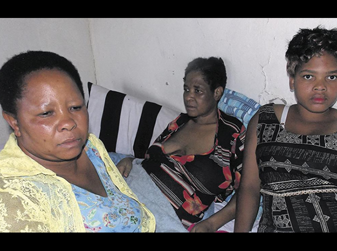 Woman 'left to rot alive'