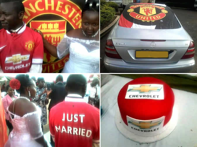 Devoted fan has outrageous Manchester United themed wedding
