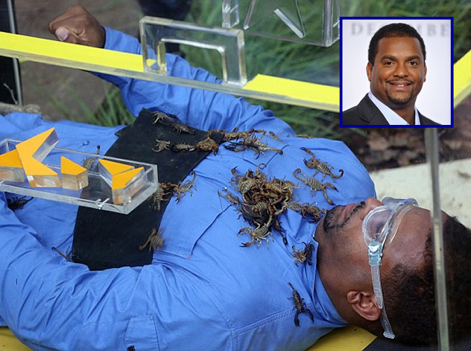 'Carlton' from The Fresh Prince of Bel-Air in tears after being locked in with scorpions
