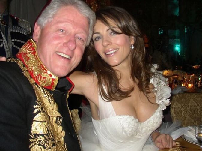 Elizabeth Hurley comments on claims she had affair with President Clinton