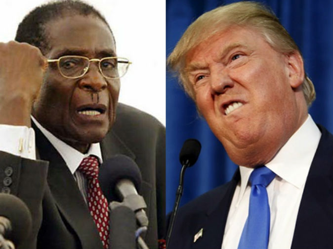 'Once Trump's your president, you'll wish you'd been friendlier to me' Mugabe warns US