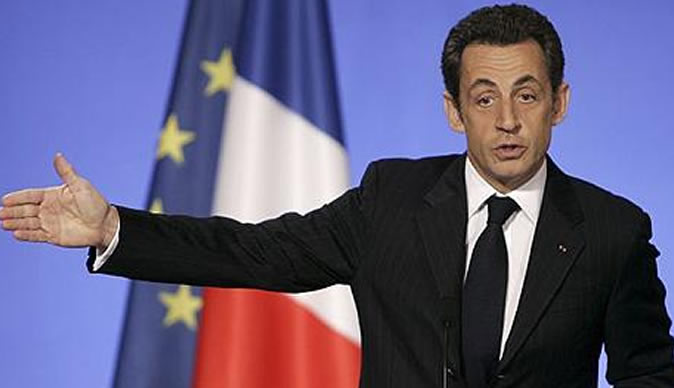 France president, Sarkozy, loses first round