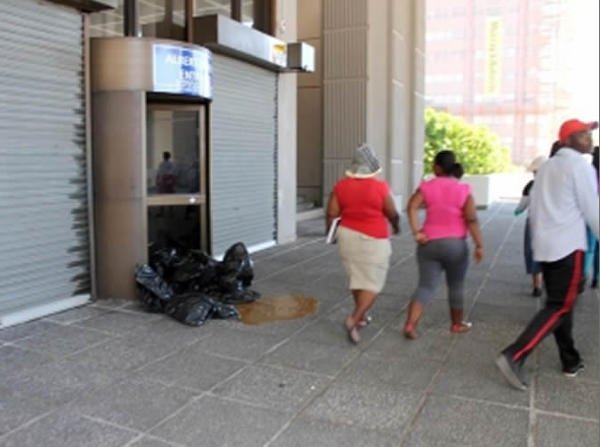 Angry residents dump poo at Civic Centre entrance