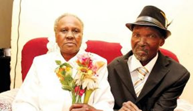 Couple gets married after 51 years together