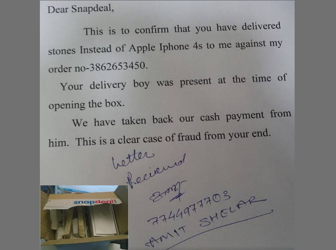 Man orders iPhones, receives pieces of wood