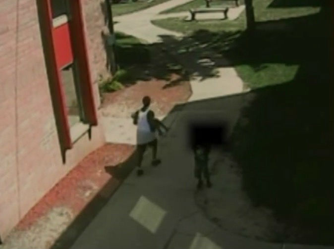 CCTV footage shows 7-year-old girl breaking free from kidnapper