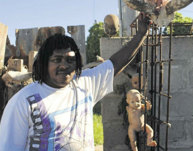 Dolls 'go into mourning' after traditional healer dies