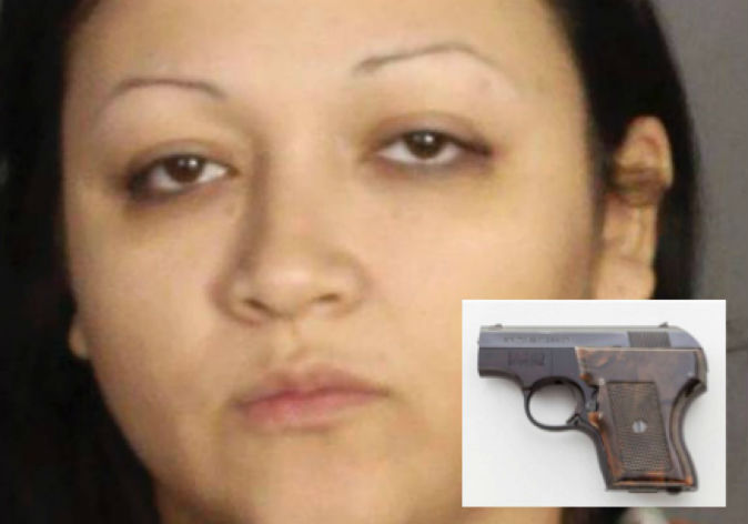 Woman hides loaded gun inside privates
