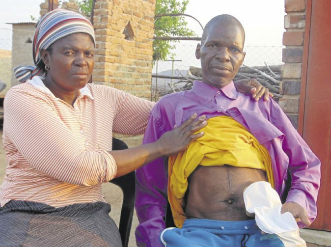 Pastor's intestines damaged at funeral