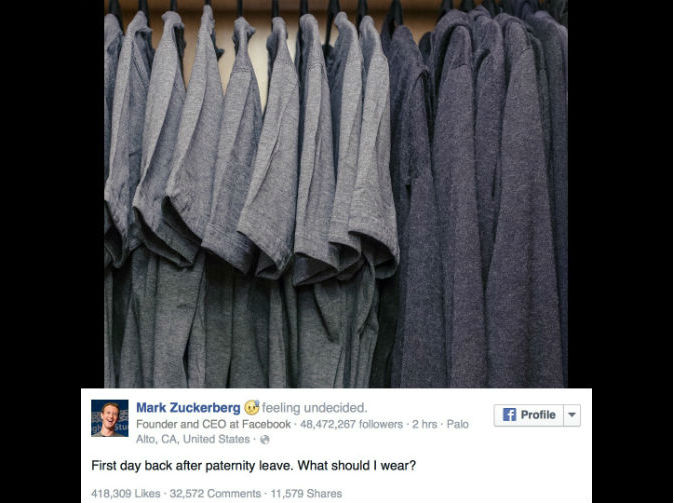 Mark Zuckerberg reveals the inside of his wardrobe