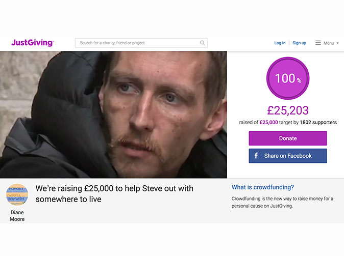 Homeless hero who pulled nails out of children's faces is given a home