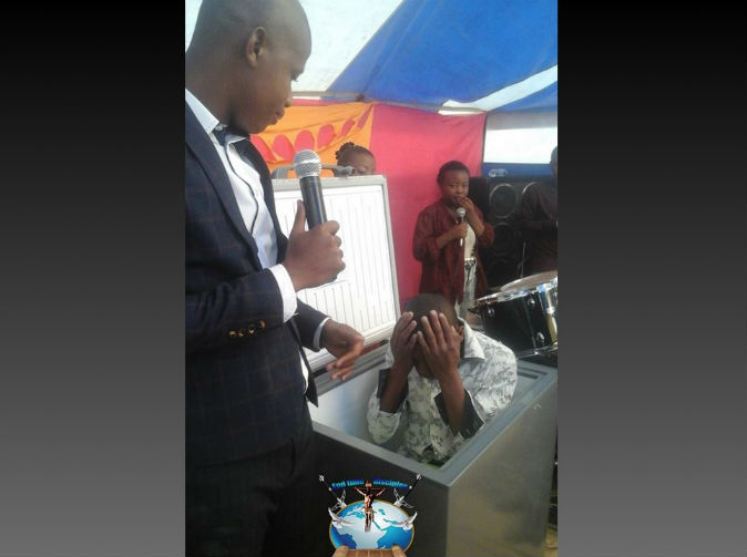 Pastor refrigerates church member