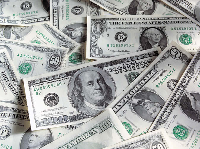 US dollar notes 'turn to black paper'