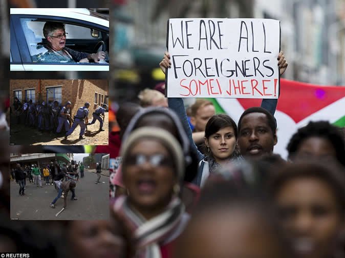 Protests against immigrants spread in South Africa