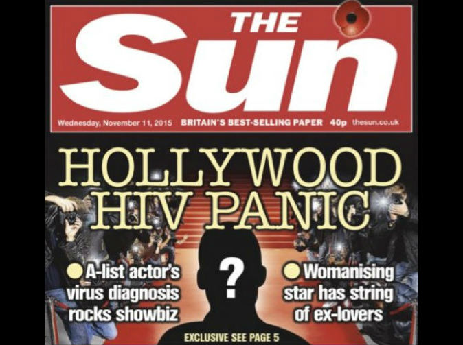 The Sun's story on HIV+ Hollywood star sparks backlash