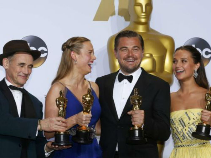 Leonardo DiCaprio wins Oscar for Best Actor