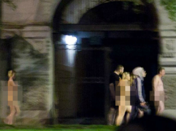 Prostitutes and clients forced to walk through city centre with no clothes on