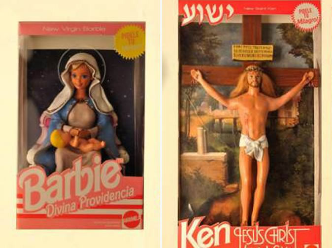 Barbie and Ken turned into the Virgin Mary and boyfriend Ken