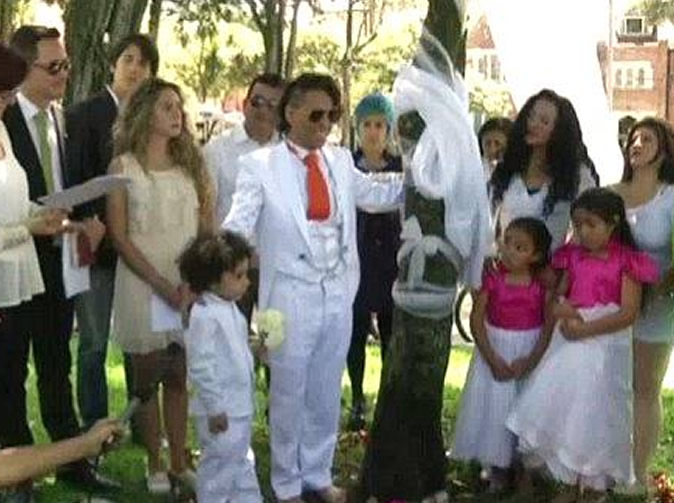 Man marries another tree