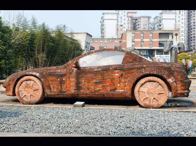 Man builds Mercedes Benz using bricks