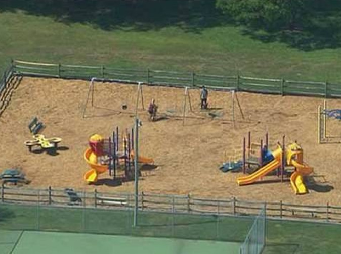 Mother found pushing dead child on park swing