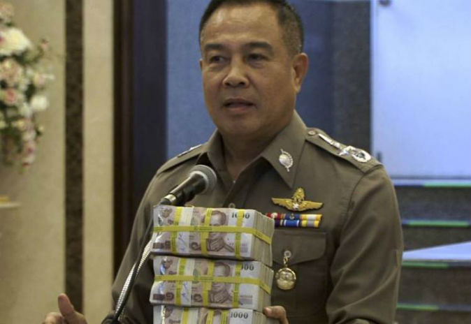 Thai police give themselves cash reward for arresting bombing suspect without help