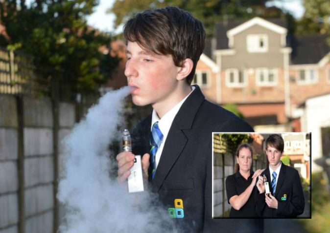 Mum complains because 14-year-old son can't smoke e-cigarette at school