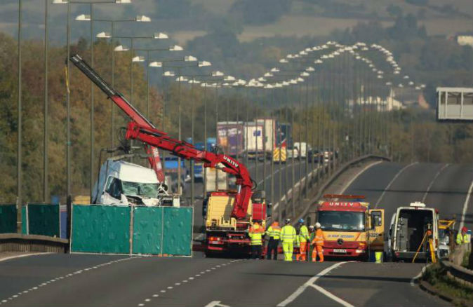 Two dead in M1 crash after car drove wrong way down motorway