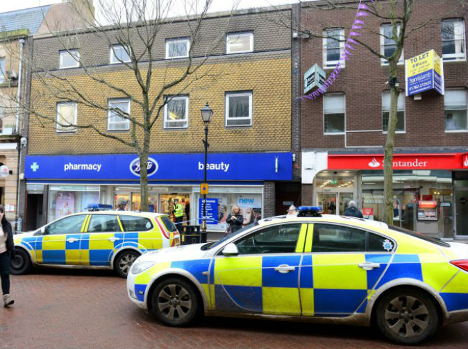 Man slits own throat and dies in store