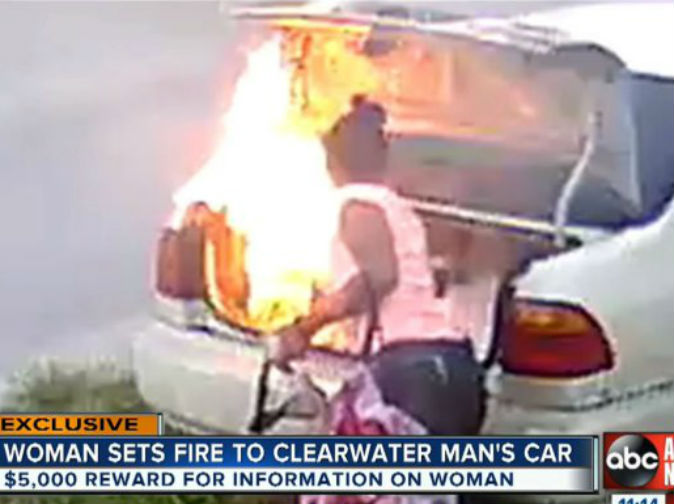 Woman 'sets wrong car on fire trying to get revenge on ex boyfriend'