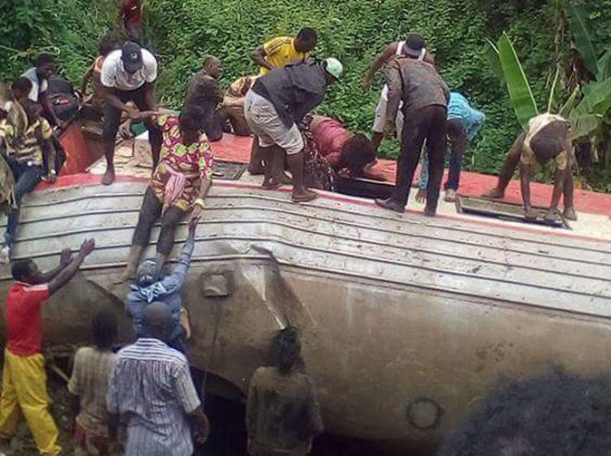 At least 53 dead after overloaded train derails in Cameroon