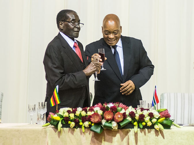 President Mugabe comforts Jacob Zuma says 'we need each other even more now than before'